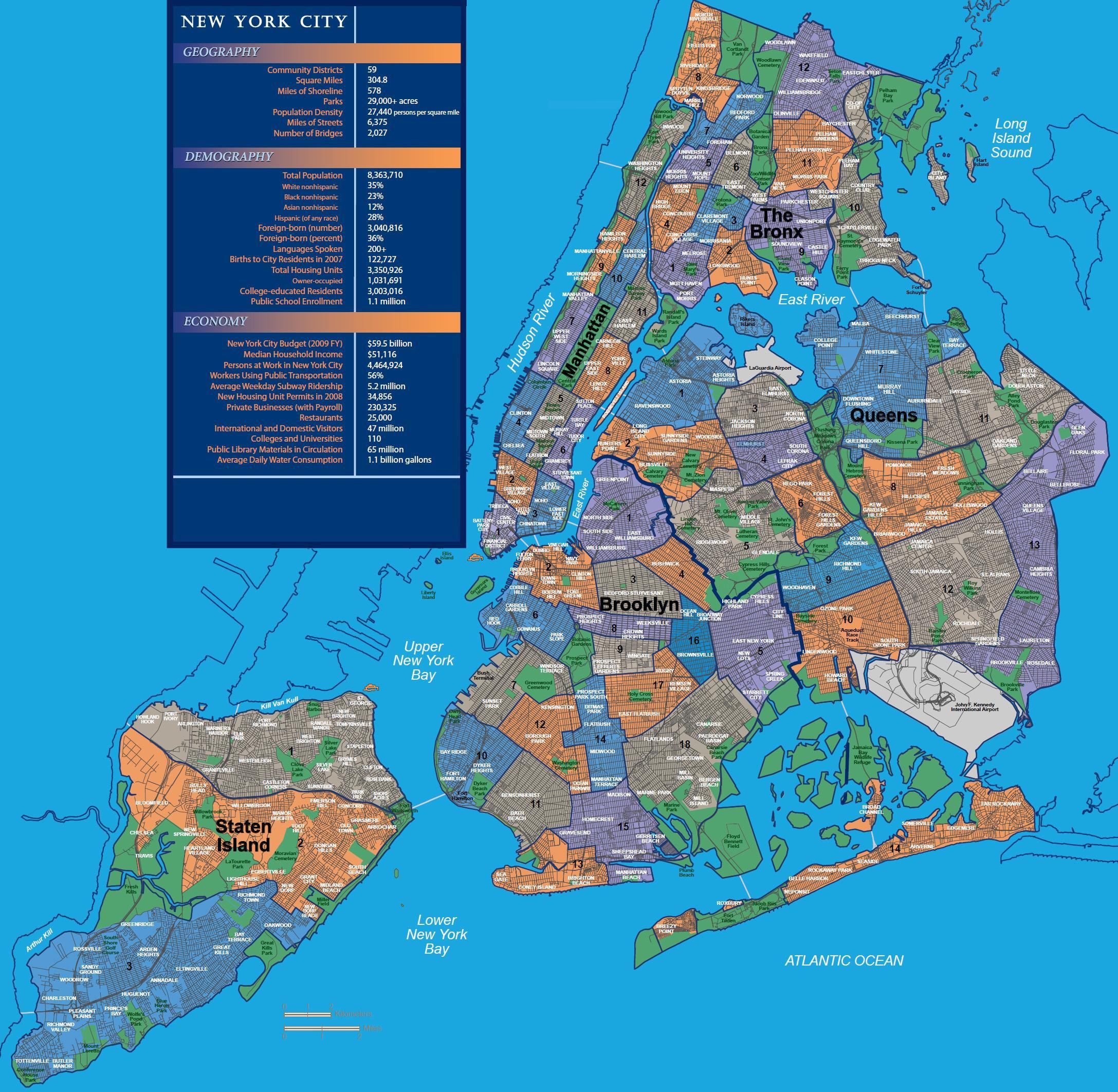 mapa ng nyc kapitbahayan