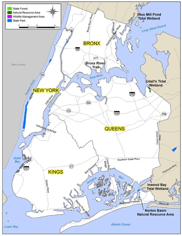 nyc heograpiya mapa